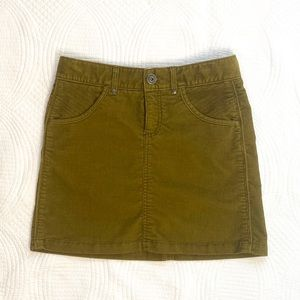 Athleta Corduroy Kaleidoscope Old Gold Mini Skirt